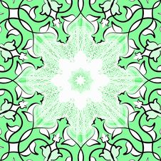 Green Ornamental Tile Stock Photography