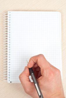 Free Notebook Writing Stock Photo - 18612900