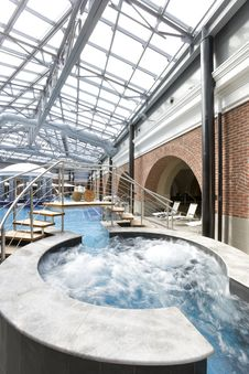 Free Swimming Pools In A Spa Hotel Stock Images - 18613034