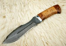 Free The Hunting Knife Stock Photography - 18613042