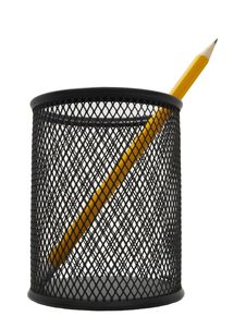 Free Pencil In A Black Pot Royalty Free Stock Photography - 18613467