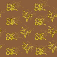 Free Seamless Background With Yellow Flowers Royalty Free Stock Photos - 18613828