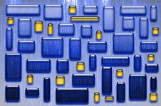 Blue And Yellow Glassy Tiles Royalty Free Stock Photography