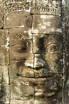 Free Stone Head On Towers Of Bayon Temple Stock Photo - 18613930