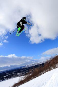 Free Ski Jump Royalty Free Stock Image - 18614196