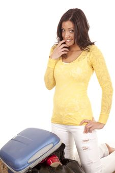 Free Thinking How To Get Suitcase Closed Stock Photo - 18614370
