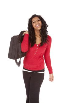 African American Woman Bag Shoulder Stock Photos