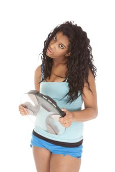 Free Mad Woman Holding Scales Stock Images - 18614534