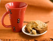 Cup And Cake. Stock Photography