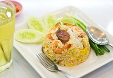 Free Fried Rice With Shrimp Royalty Free Stock Photography - 18614987