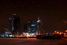 Free Moscow City Business Center. Night View. Royalty Free Stock Photography - 18615357