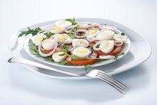 Free Healthy Salad With Eggs Stock Photography - 18615382