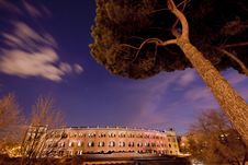 Madrid S Bullfighting Arene At Night Stock Image