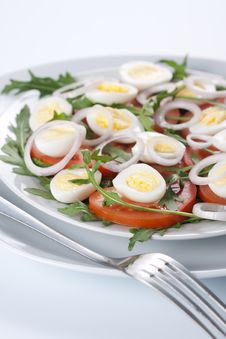 Free Healthy Salad With Eggs Stock Photo - 18615460