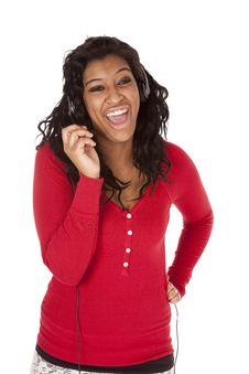 Free African American Headset Laugh Royalty Free Stock Photos - 18615568