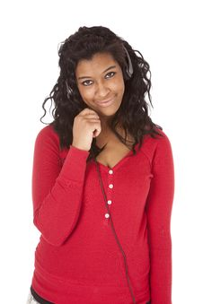 Free African American Woman Smile Headset Royalty Free Stock Photography - 18615607