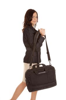 Free Woman In Black With Bag Stock Photo - 18615750