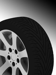 Free Car Wheel Royalty Free Stock Photography - 18616437