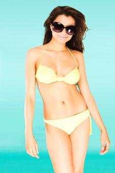 Free Bikini Girl Royalty Free Stock Images - 18617249