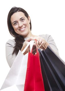 Free Beautiful Woman With Shopping Bags Stock Images - 18617274