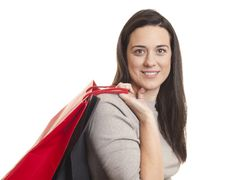 Free Pretty Woman Holding Shopping Bags Stock Image - 18617371