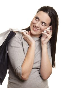 Free Beautiful Woman With Shopping Bags Royalty Free Stock Photography - 18617607