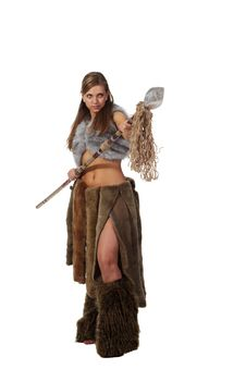 Free Savage Girl With A Spear Royalty Free Stock Photo - 18618395