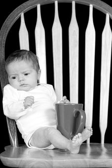 Free Black And White Morning Baby Royalty Free Stock Photos - 18618558