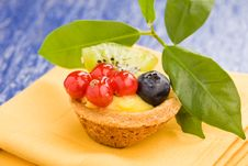 Free Pastires With Blueberries And Currants Royalty Free Stock Photos - 18618578