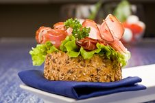 Sandwich With Bacon And Salad Royalty Free Stock Image