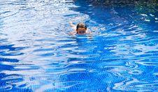 Free Tween White Girl Swimming In A Pool. Stock Photo - 18619230