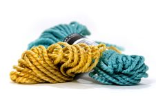 Yellow And Blue Yarn Stock Images