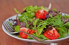 Free Salad Simple On Rustic Table Royalty Free Stock Photos - 18619868