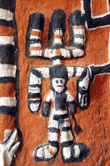 Free Close Up Of Dogon Artwork On A Building Royalty Free Stock Image - 18621196