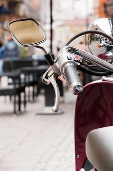 Free Motor Scooter Handlebar Stock Image - 18621341