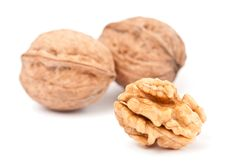 Free Walnuts: Cracked And Intact Stock Photo - 18621450
