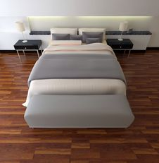 3d Rendering Bedroom Royalty Free Stock Image