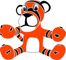 Free Stencil Of Toy Tiger Cub Royalty Free Stock Images - 18622589