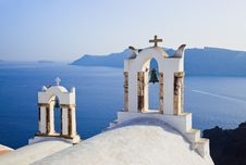 Santorini Sunset (Oia) - Greece Royalty Free Stock Image