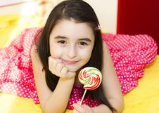 Free Girl With Lollipop Stock Image - 18623431