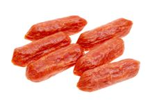 Free Small Spicy Salami Snacks Isolated Stock Photo - 18624440