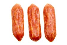 Free Small Spicy Salami Snacks Isolated Stock Photos - 18624473