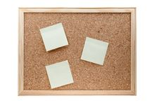 Free Different Sticky Notes On A Cork Board Isolated Royalty Free Stock Photos - 18624518