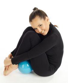 Free Gymnastic Posing On White Royalty Free Stock Photos - 18625198
