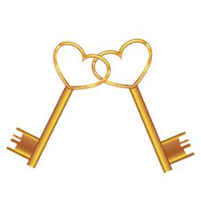 Free Golden Key Opens The Heart Royalty Free Stock Photography - 18625897