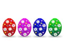 Free Illustration With Colored Eggs Royalty Free Stock Photography - 18626607