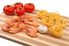 Shrimps, Tomatoes And Pasta