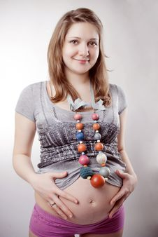 Free Funny Pregnant Woman Royalty Free Stock Photography - 18626897