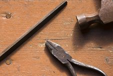Free Old Rusted Pliers Royalty Free Stock Photos - 18627048