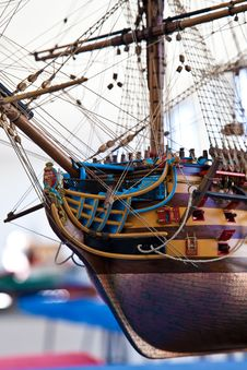 Galleon Model Detail Stock Photos